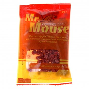 Гранулы от грызунов mr. mouse 30 гр/60