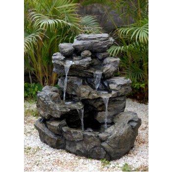 Садовый фонтан  горный водопад
