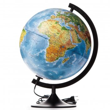 Глобус физико-политический диаметр 320мм классик с подсветкой