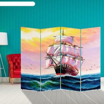 Ширма корабли. декор 24 200 x 160 см, двухсторонняя