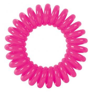 """Резинки для волос dewal beauty """"пружинка"""", цвет розовый (3 шт.)"""