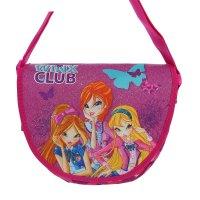 Сумка детская на молнии winx club, 1 отдел, розовая