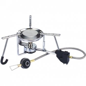 Горелка газовая kovea exploration stove со шлангом (вес-500г,пьезоподжиг,