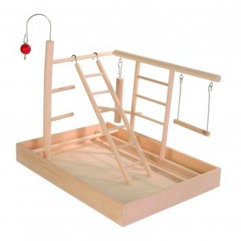 Игровая площадка trixie для попугая, большая 34 х 26 х 25 см.