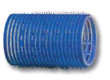 Бигуди-липучки синие d 40 мм (12 шт)