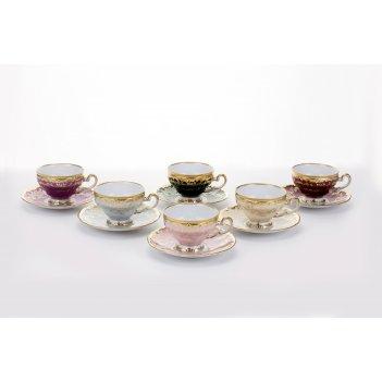"""Набор чайный на 6 перс.12пред.подарочный """"ювел калорс"""""""