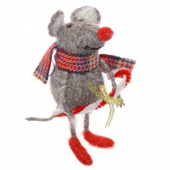 Декоративная фигурка мышка, 12х4х14см