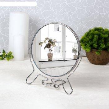Зеркало мет скл-под круг (2) mix metal d14/16*25,5см увел  кор
