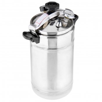 Автоклав-стерилизатор 22 л домашний погребок, манометр, термометр, клапан