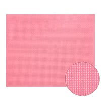 Канва 30х40 см  gamma   aida №14 цвет розовый, хлопок  k04