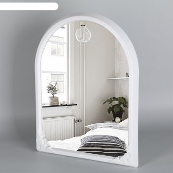 Зеркало в рамке 49,5x39 см, цвет белый