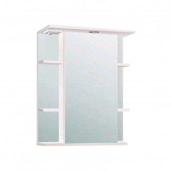 Шкаф-зеркало лира 600  правый, белый, без подсветки арт.10235