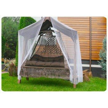 Подвесное плетеное кресло качели seara в комплекте с подушками
