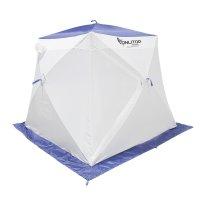 Палатка призма 200 (1-сл) стандарт в95т1, бело-синяя