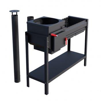 Печь-мангал grillver iscander standart air для сада