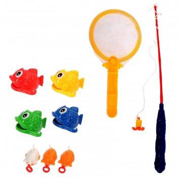Рыбалка веселые рыбки 10 предметов: 1 удочка (дл.26см), 1 сачок, 8 рыбок