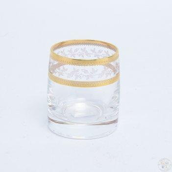 Набор стопок для водки crystalex bohemia золотой лист v-d 60 мл(6 шт)