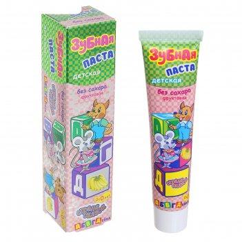 Зубная паста детская страна сказок абвгдейка, без сахара, от 0 лет, (в фут