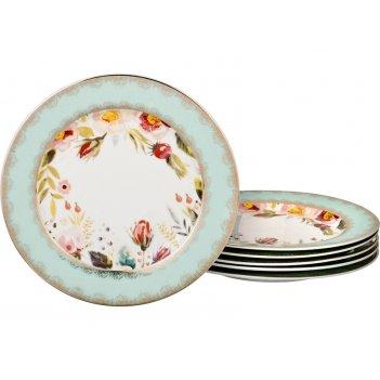 Набор десертных тарелок из 6 шт. диаметр=20 см (кор=8набор.)