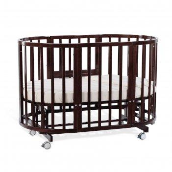 Детская кроватка-трансформер nuovita nido magia 5 в 1, круглая/овальная,бу