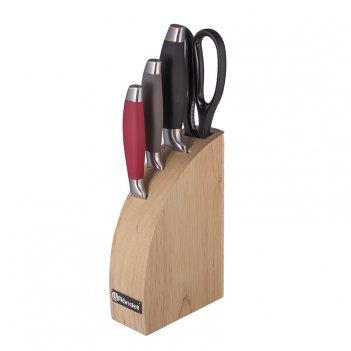 Набор ножей 3 шт. +ножницы + блок