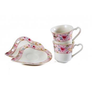 Подарочный кофейный набор на 2 персоны: 2 чашки, 2 блюдца