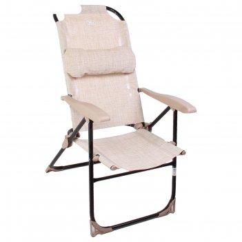 Кресло-шезлонг складное 2, сетка, размер 750x590x1090мм, цвет песочный  к2