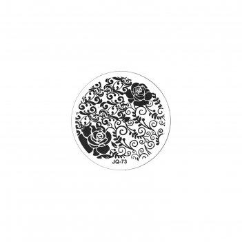 Трафарет металлический для стемпинга tnl малый, чайная роза