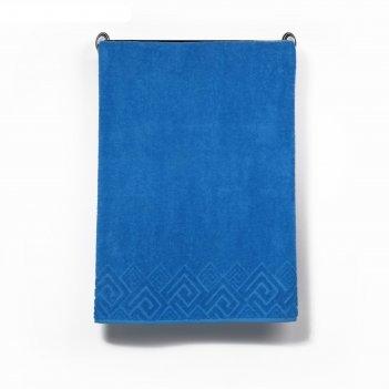 Полотенце махровое poseidon пл-3501-04000 1сорт цв. 229 голубой,70х130 хл.