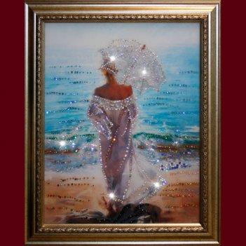 Картина сваровски - влюбленная в море