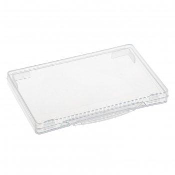 Футляр для визиток и карт прозрачный, стамм, 69 х 100 х 10 мм, вт50