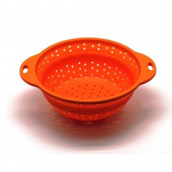 Дуршлаг складной, оранжевый, 25,8 см