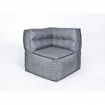 Кресло угловое модульное «комфорт люкс», серый, рогожка