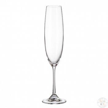 Набор фужеров для шампанского crystalite bohemia milvus/barbara250 мл(6 шт