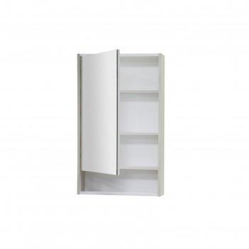 Зеркало-шкаф рико 50, цвет белый/ясень фабрик