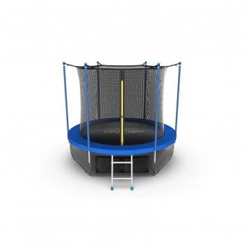 Батут evo jump internal 8 ft, d=244 см, с внутренней сеткой, нижней сеткой