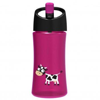Детская бутылка для воды carl oscar cow 0.35л фиолетовая