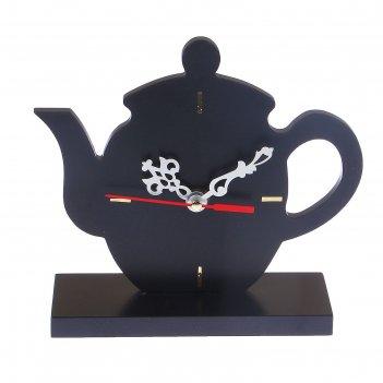 Часы настольные кухонные чайник, 19х16х6.5 см микс