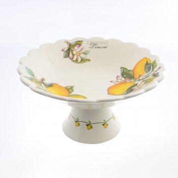 Фруктовница 30см artigianato ceramico лимоны