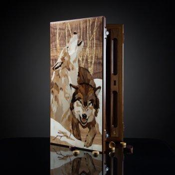Нарды волки из палисандра kadun