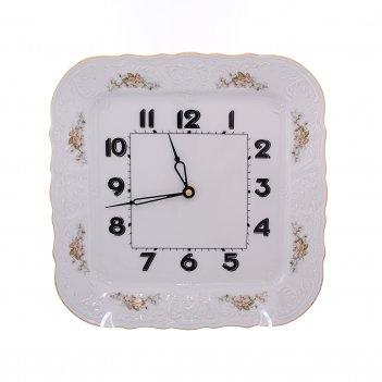 Часы квадратные 27 см бернадотт зеленый цветок