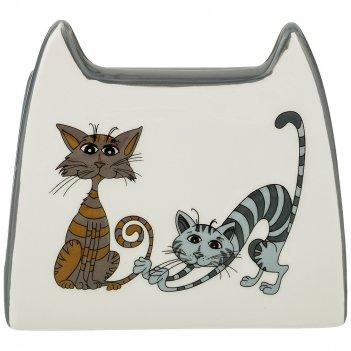 Салфетница коллекция озорные коты 12*5*11 см (кор=48шт.)