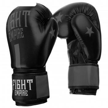 Перчатки боксерские, соревновательные, 10 унций, цвет черно-серый