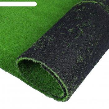 Мох искусственный, декоративный, полотно 1*1 м, зеленый
