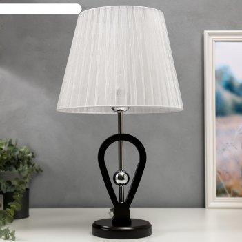 Лампа настольная 16233/1 е27 40вт черно-хромовый 30х30х50 см
