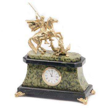 Часы георгий победоносец бронза змеевик
