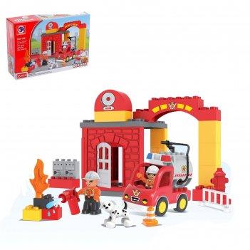 Конструктор «пожарная станция», 35 деталей
