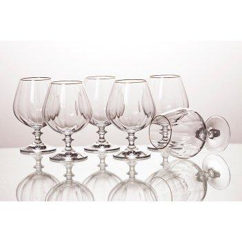 Набор бокалов для коньяка из 6 шт.анжела оптик 400 мл.высота=15 см.