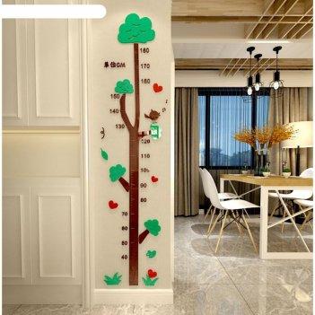 Панно на стену-ростомер деревце 1.8 м