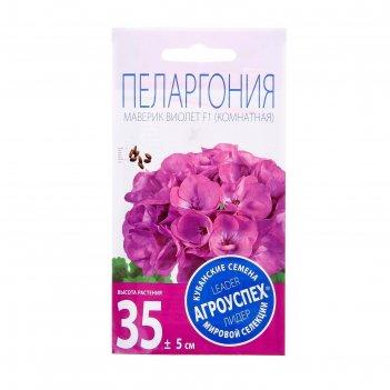 Семена комнатных цветов пеларгония маверик виолет 4 шт